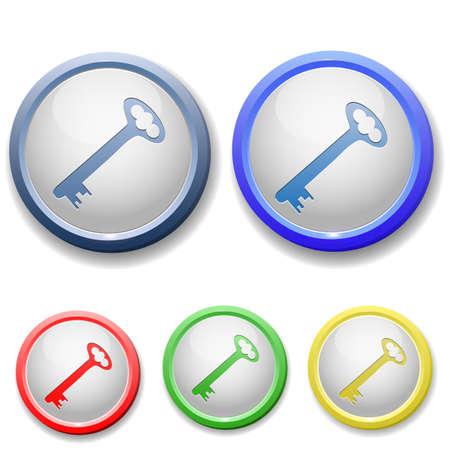 forbidden to pass: circle key icon