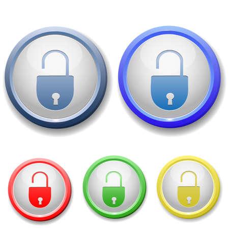 circle open lock icon