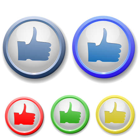 circle thumb up icon Stock Vector - 15753186