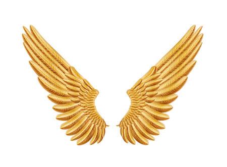 artificial wing: ali d'oro Vettoriali