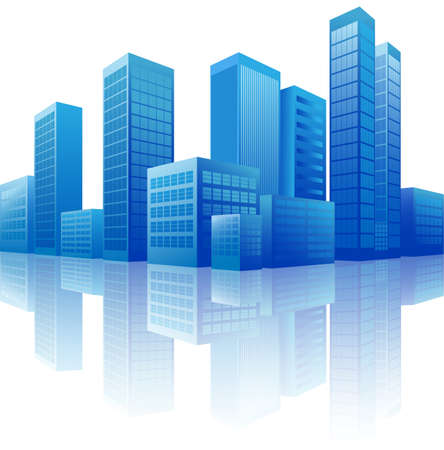 company building: city background Illustration