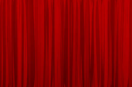 red curtain Stock Vector - 15977770