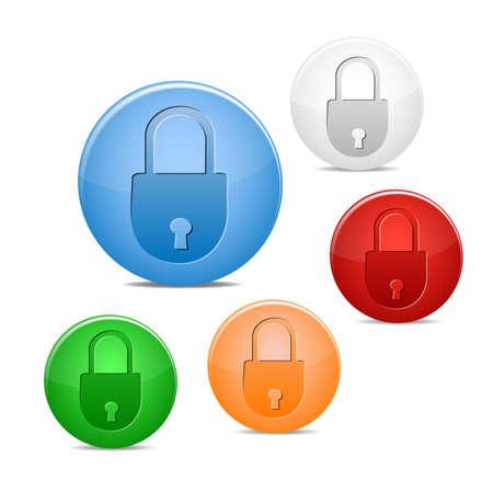 closed lock icon Stock Vector - 16245136