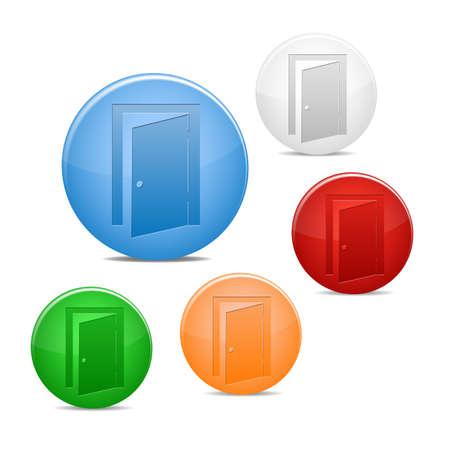 Кнопки: Значок двери выхода Иллюстрация