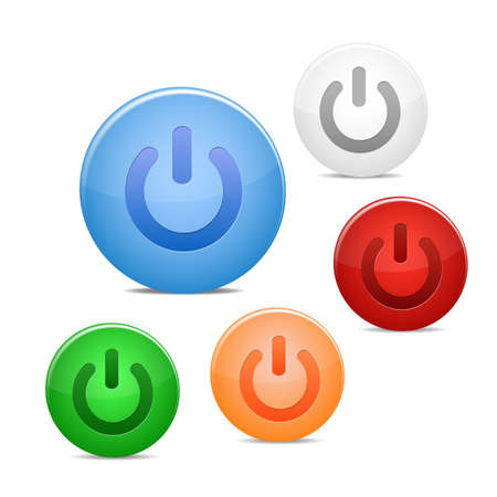 power on button: power off icon
