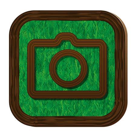 tree-herbal camera icon Stock Vector - 16463886