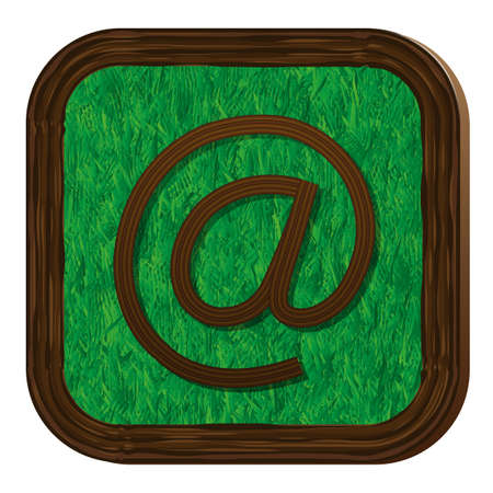 tree-herbal e-mail icon Vector