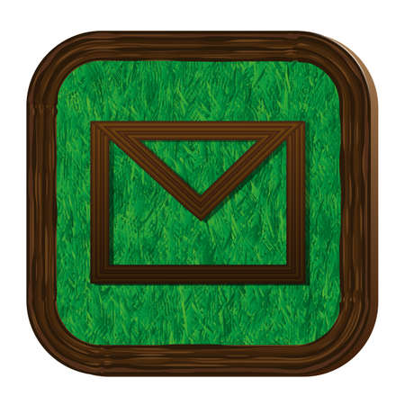 tree-herbal envelope icon Vector