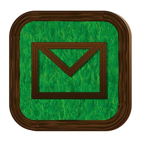tree-herbal envelope icon Stock Vector - 16463895