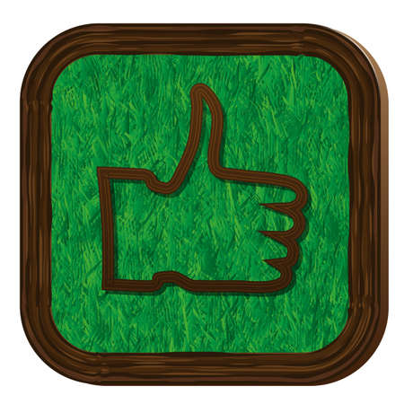 tree-herbal thumb up icon Stock Vector - 16463903