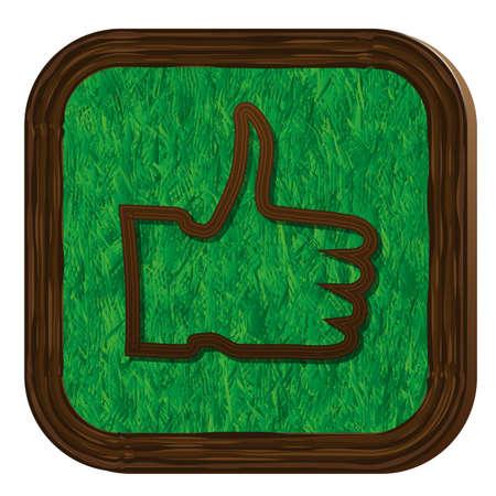 tree-herbal thumb up icon Stock Vector - 16463903