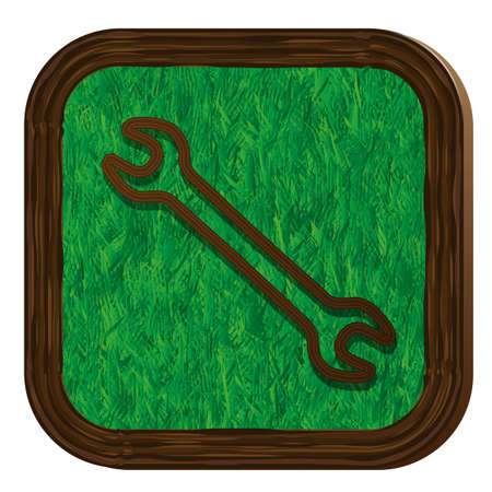 tighten: tree-herbal wrench icon