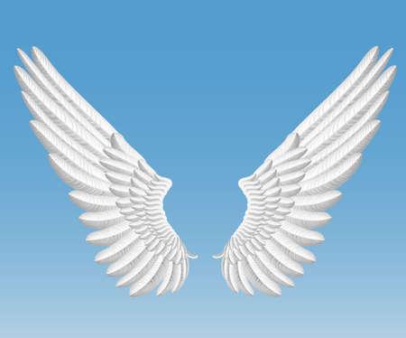 artificial wing: angelo ali Vettoriali