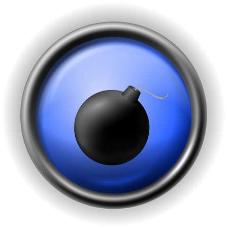 Glass cannonball icon Stock Vector - 16927743