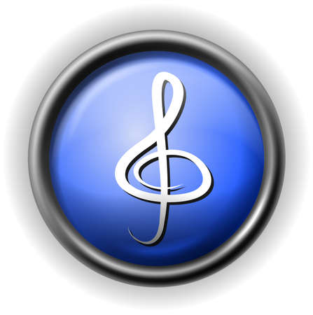 musically: Glass clef icon