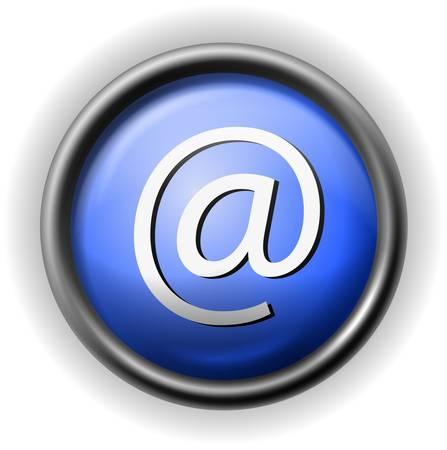 Glass e-mail icon Stock Vector - 16927614