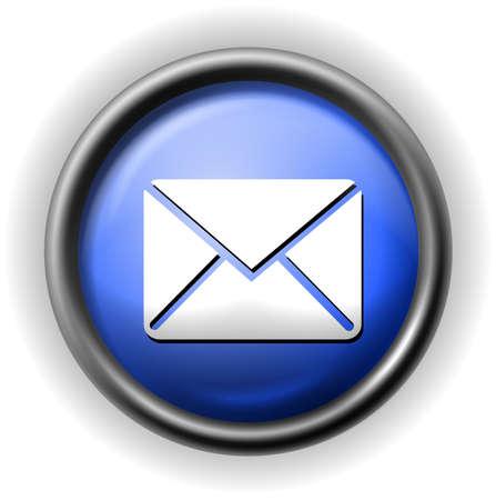 Glass envelope icon