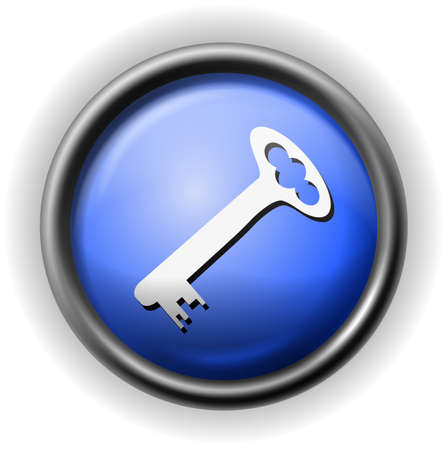 Glass key icon Vector