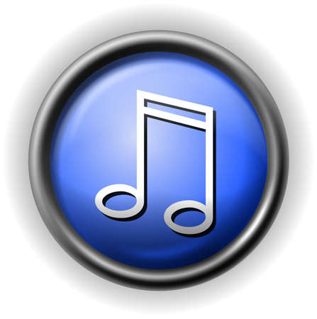 Glass musical icon