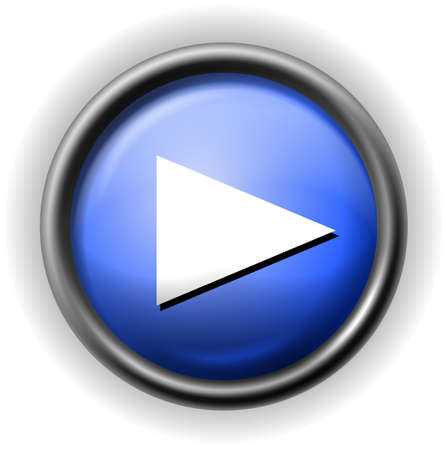 Glass play icon Stock Vector - 16927562