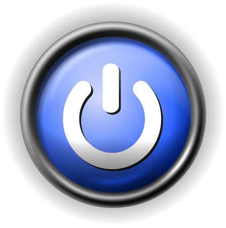 Glass power icon
