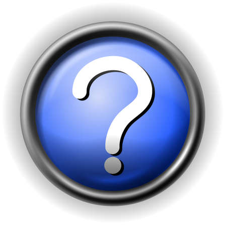 question icon: Glass question icon