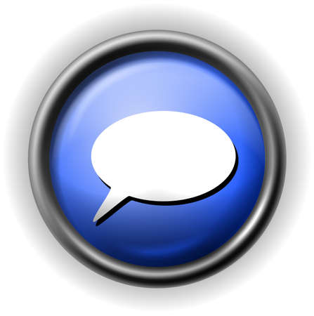 communicatio: Glass speech icon