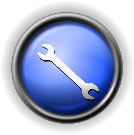 Glass wrench icon Illustration