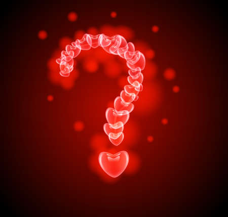 question mark in the hearts Vector