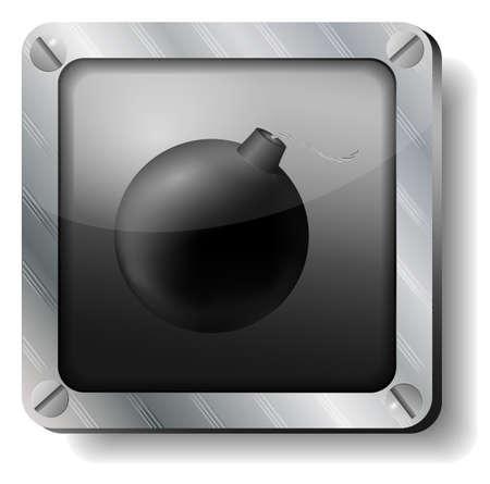 steel bomb icon Stock Vector - 17380396