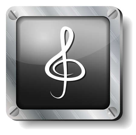 musically: steel clef icon