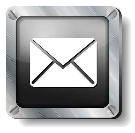 steel envelope icon Stock Vector - 17424281