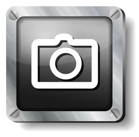 steel photo icon Vector