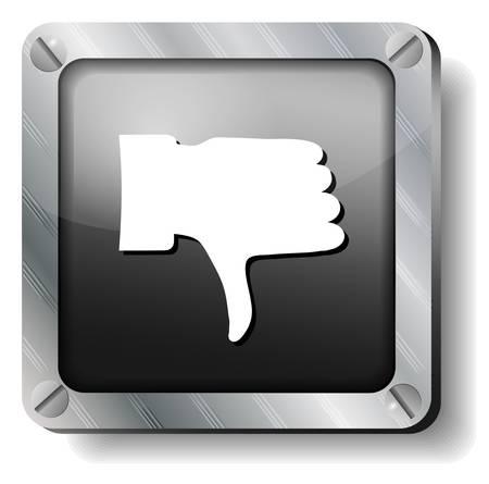 steel thumb down icon Stock Vector - 17424277