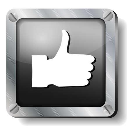 steel thumb up icon Stock Vector - 17424279