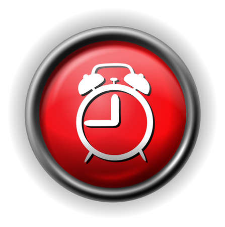alarm icon red Vector