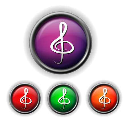 musically: clef icon Illustration
