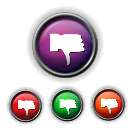 downfall: thumb down icon Illustration