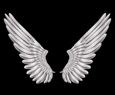artificial wing: silver wings