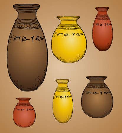 ancient vases Stock Vector - 18246777