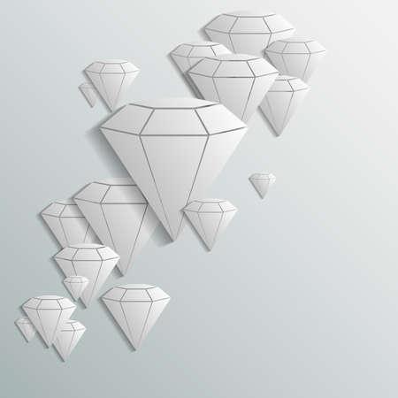 diamant achtergrond Vector Illustratie
