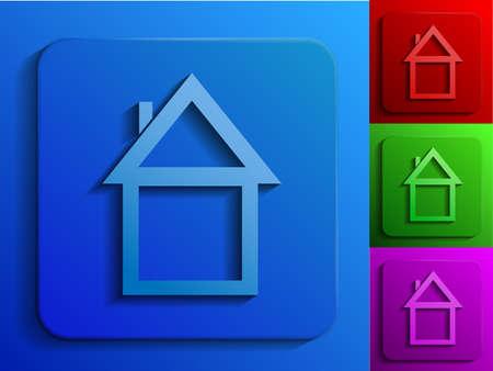 home monochrome icons Stock Vector - 19584693