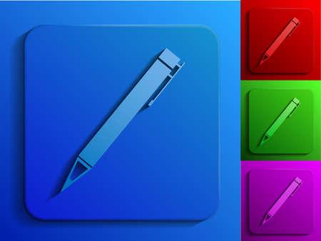pen monochrome icons Stock Vector - 19584689