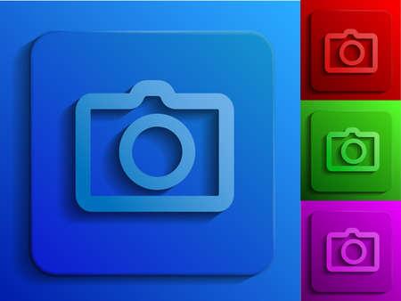 photo monochrome icons Stock Vector - 19584768