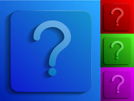 question monochrome icons Vector