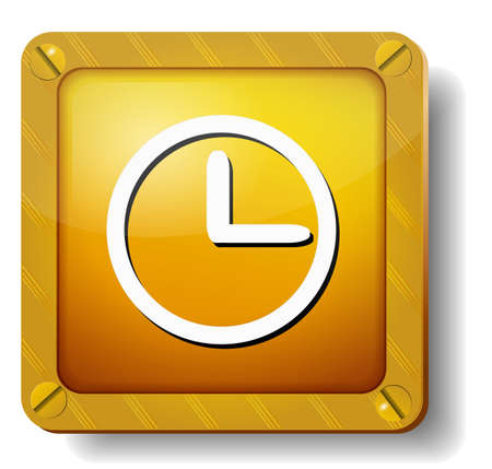 golden clock face icon Vector