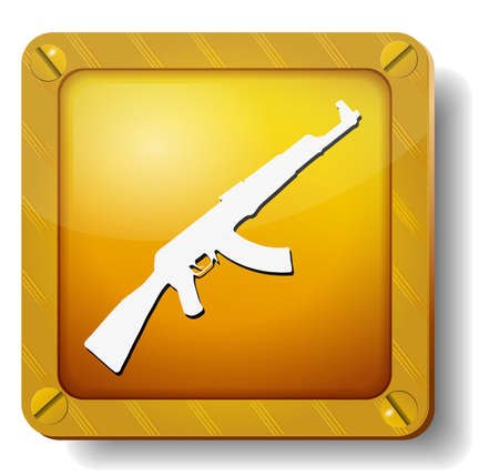 golden weapons icon Stock Vector - 20277863