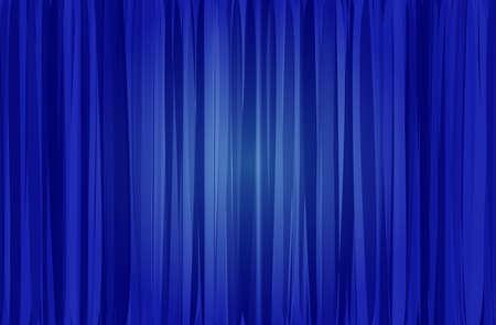 blue curtain Stock Vector - 20270063