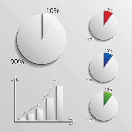 infographic 10 percent Illustration