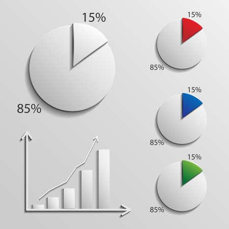infographic 15 percent Illustration